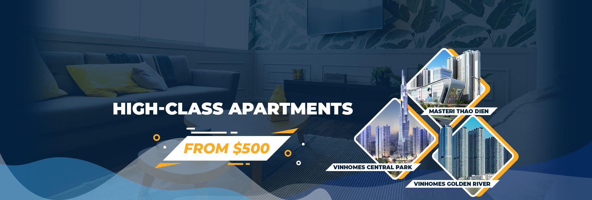 Banner High-class apartments