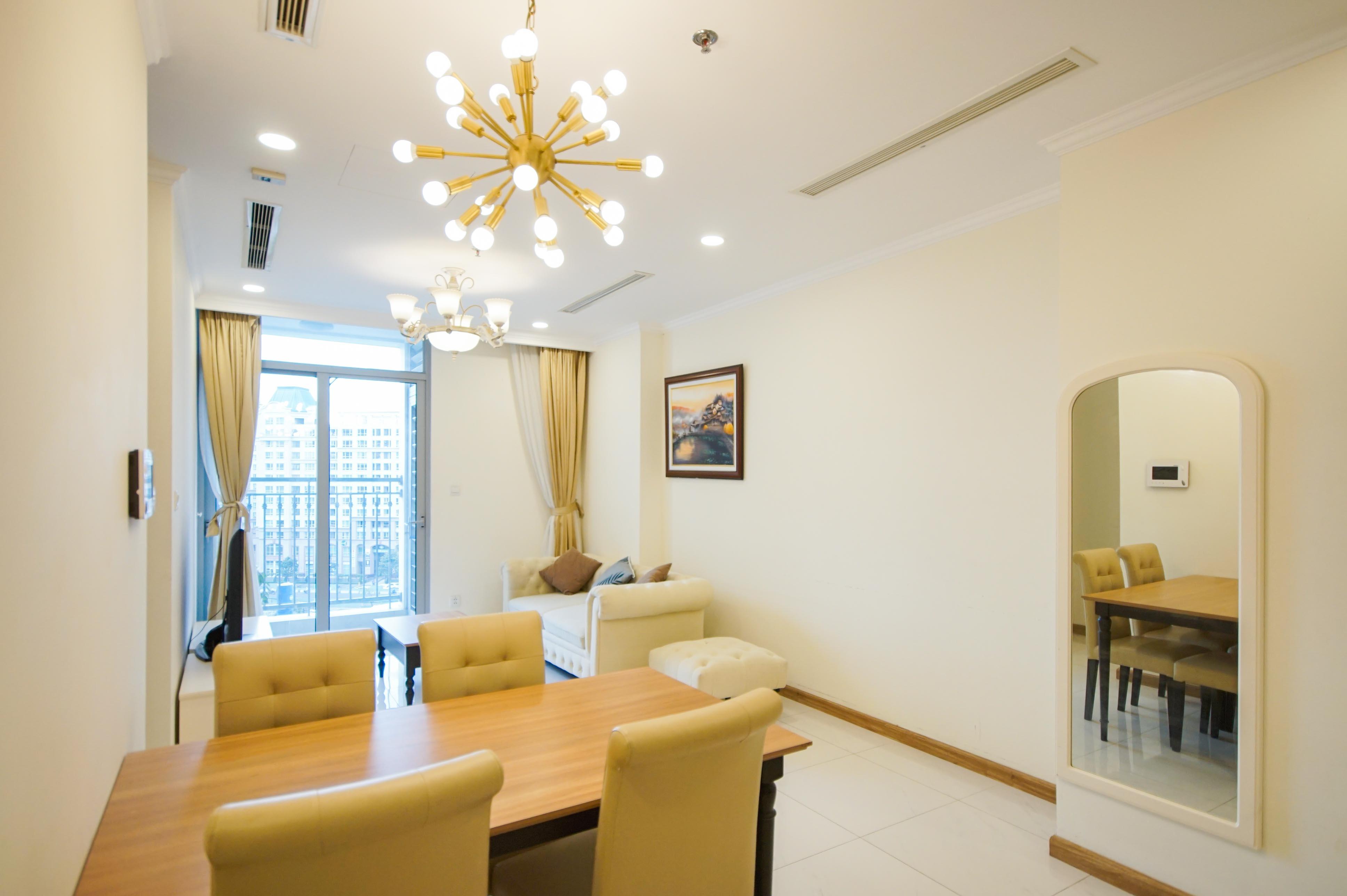 Cho Thuê Office-tel 1 PN Vinhomes Central Park - Full Nội Thất Cao Cấp -4