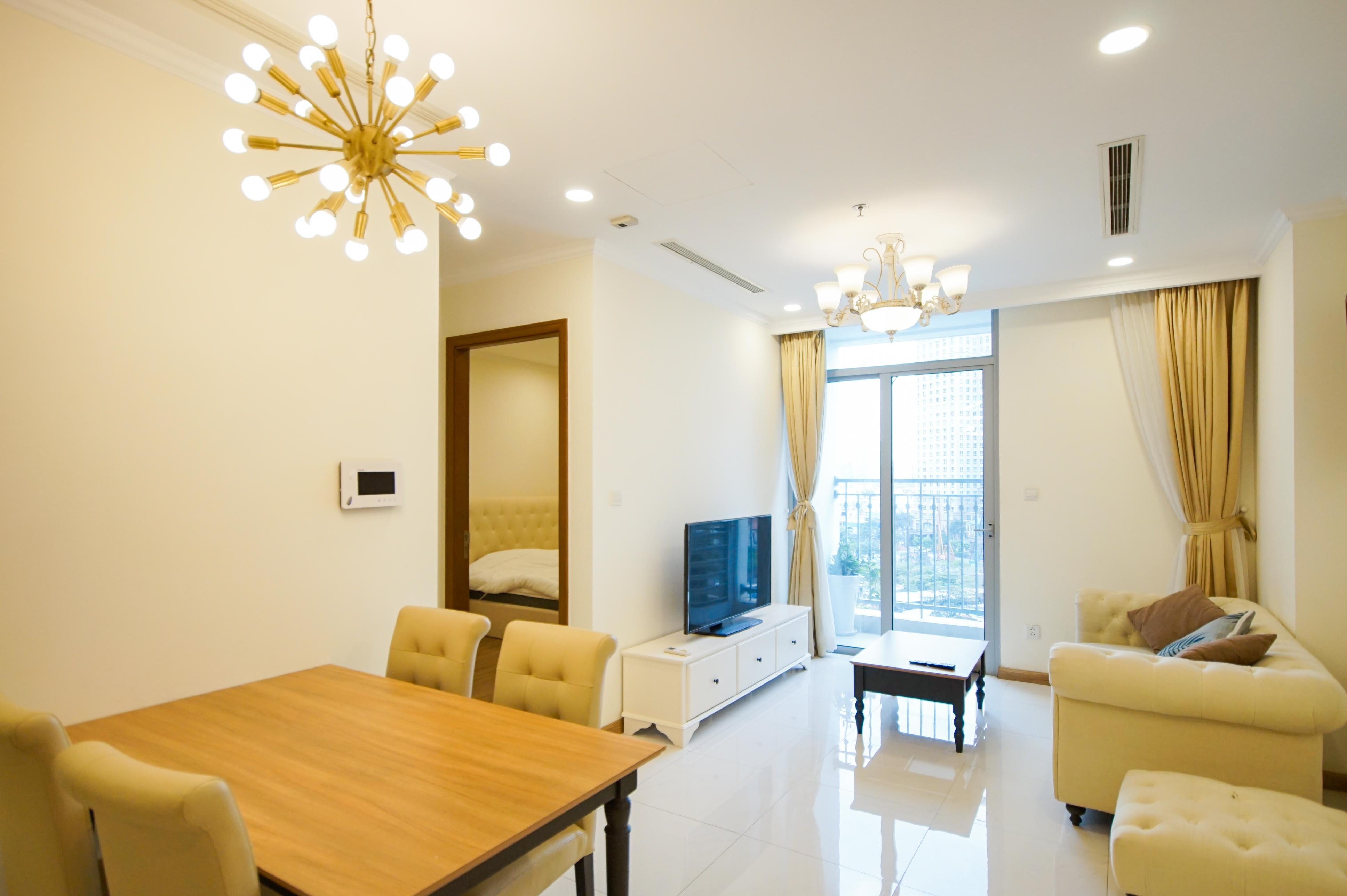 Cho Thuê Office-tel 1 PN Vinhomes Central Park - Full Nội Thất Cao Cấp -3