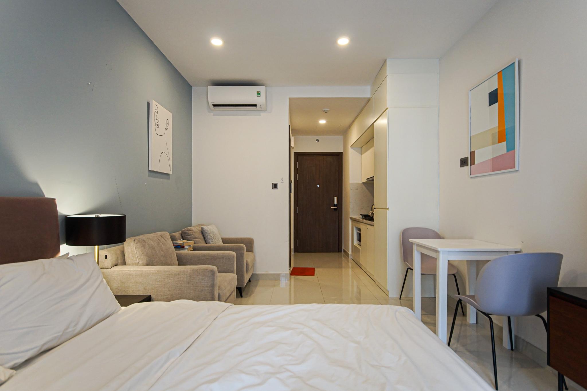 Cho Thuê Căn hộ Office-te 1 PN Saigon Royal Residence - Đầy Đủ Nội Thất & Nghệ Thuật -6