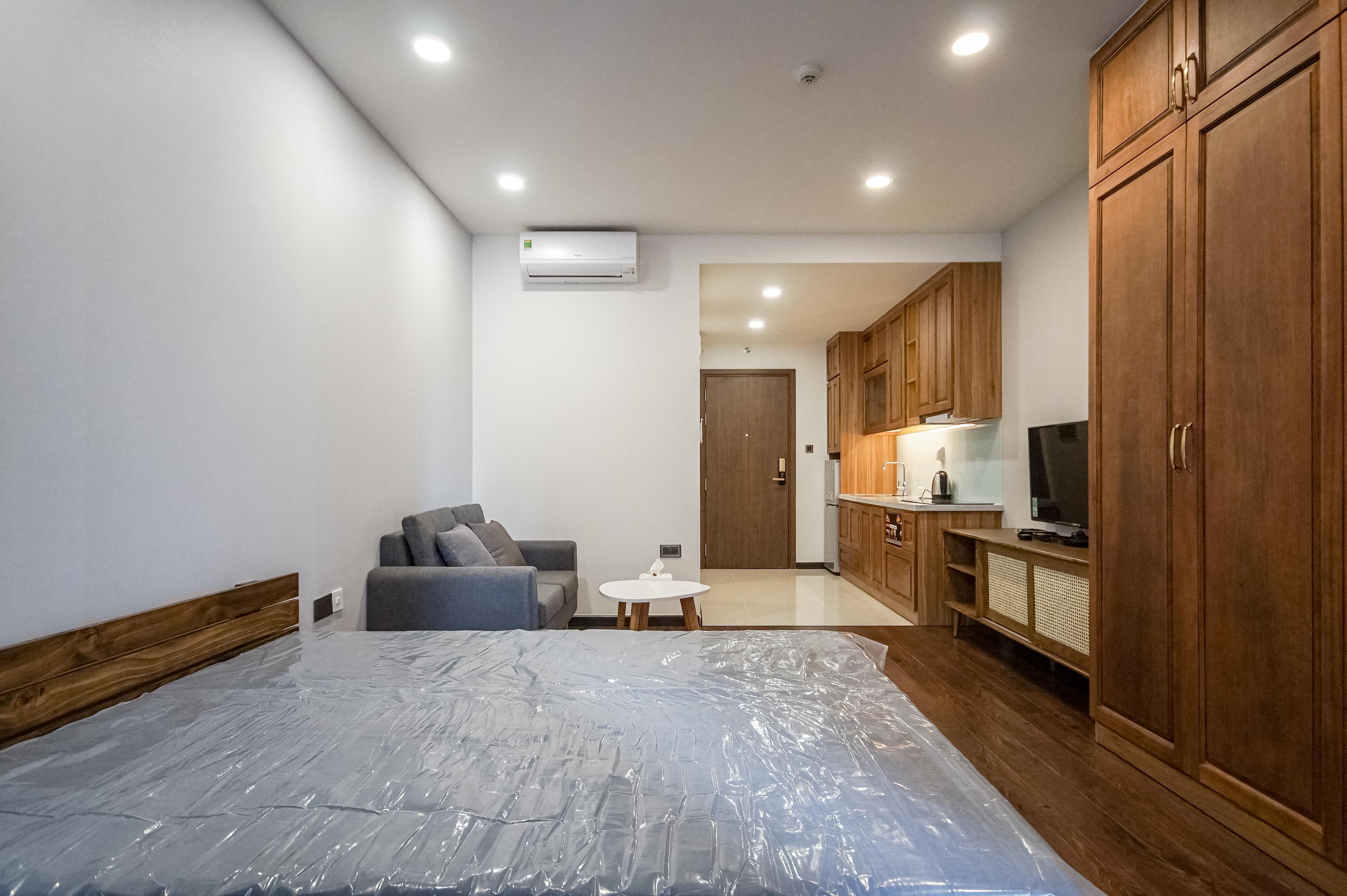 Căn hộ Studio Saigon Royal Residence - Đầy Đủ Nội Thất & Ấm Cúng-0