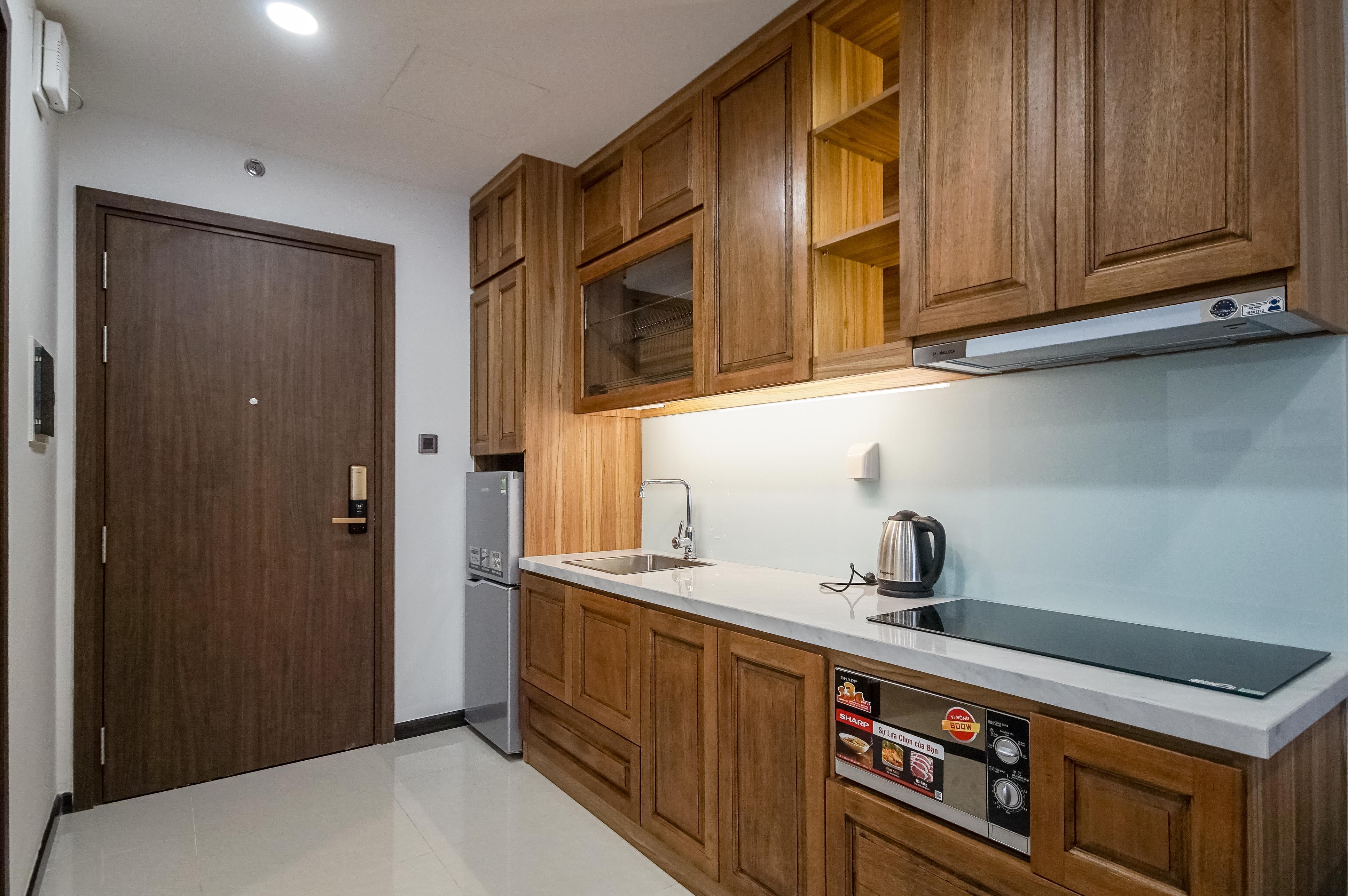 Căn hộ Studio Saigon Royal Residence - Đầy Đủ Nội Thất & Ấm Cúng-11