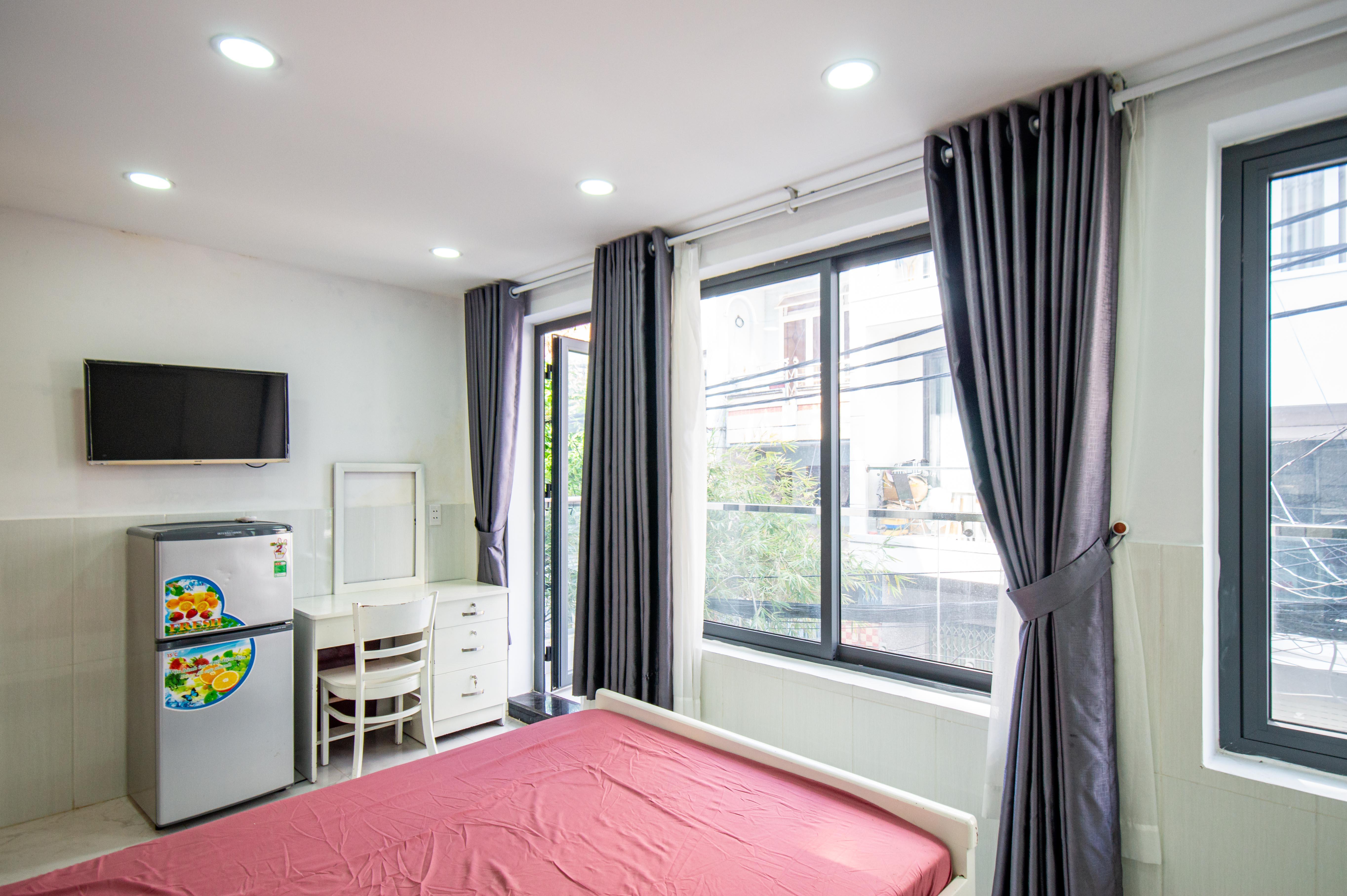 Cho Thuê Căn hộ 1 PN Trần Văn Đang Apartment - Ban Công Rộng Rãi -3