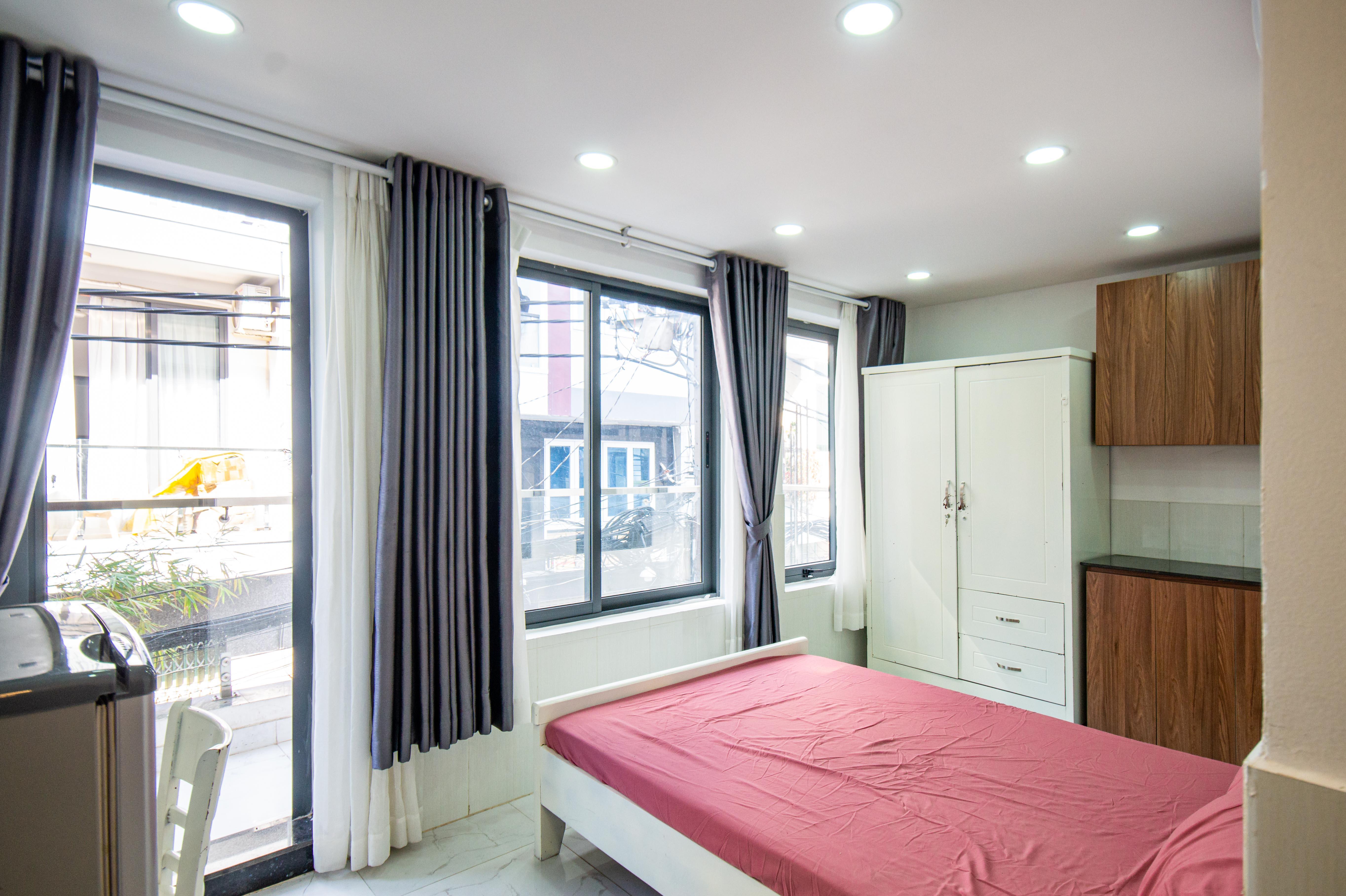 Cho Thuê Căn hộ 1 PN Trần Văn Đang Apartment - Ban Công Rộng Rãi -0