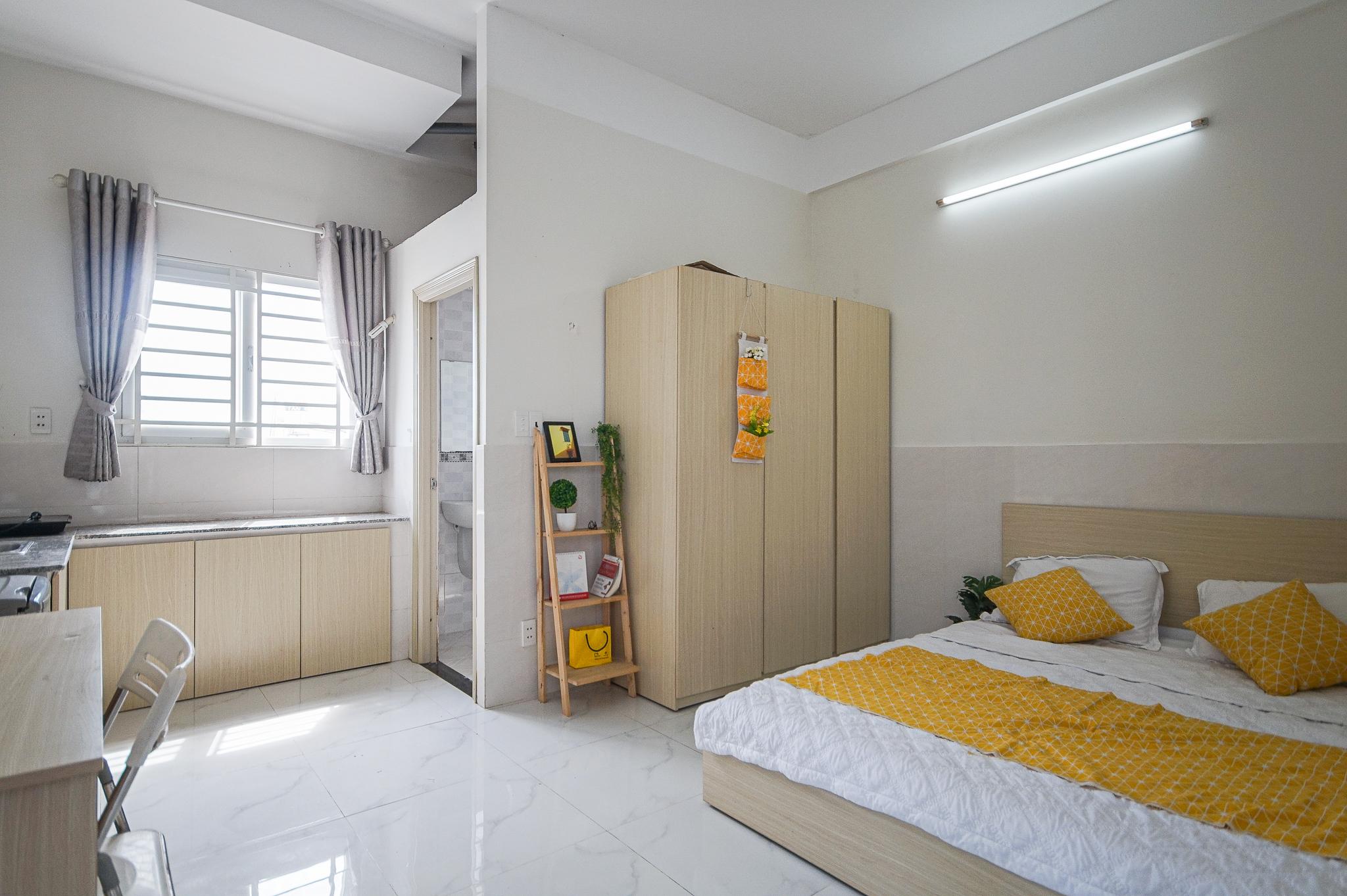 Cho Thuê Căn Hộ Dịch Vụ 1 PN Đường Số 77 - Phòng Ngủ Đón Nắng -0