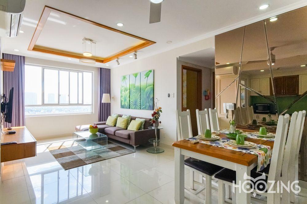 Cho Thuê Căn hộ 2 PN Tropic Garden - Tầng Cao View Thành Phố